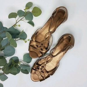 Beautiful Clarks Artisan Copper Leather Sandals 9
